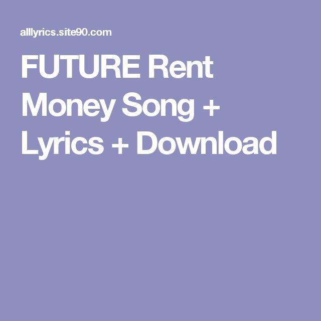 FUTURE Rent Money Song + Lyrics + Download