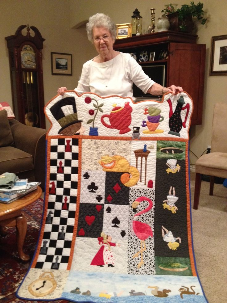 Robin's Quilt Nest Quilt Pattern Designs - Alice In Wonderland