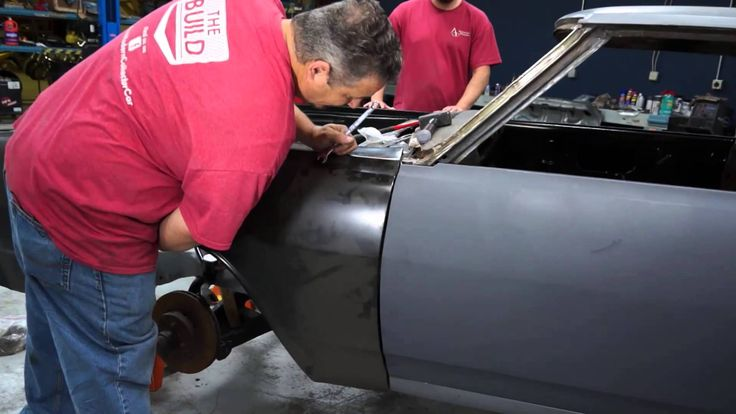 American Modern's The Build team, along with National Corvette Museum Insurance Agency's  Adam Boca, are working on panel and gap fitting on this 1965 Chevy Malibu beauty.  Make sure you follow our updates on Facebook at http://www.facebook.com/AmericanModernCollectorCar @American Modern Insurance Group