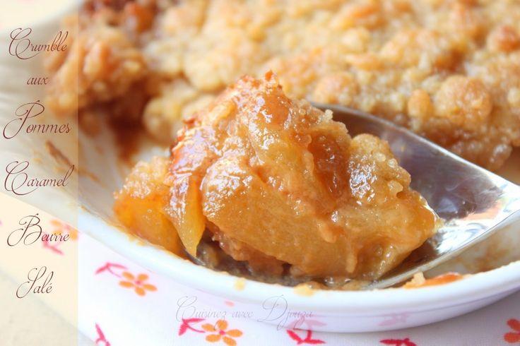Crumble speculoos aux pommes caramel beurre salé
