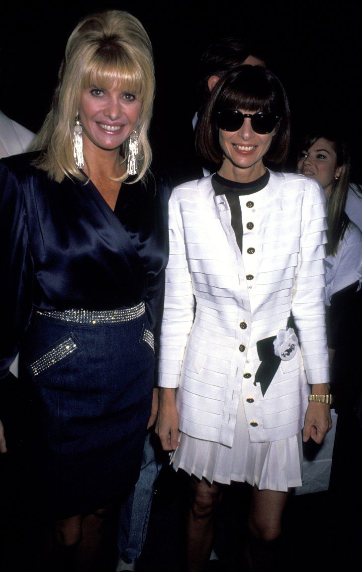 Pin for Later: Happy Birthday, Anna Wintour! A Smiling Shot For Every One of Her 65 Years 1991: Off the Street Citizens' Committee For Children of New York Ivana Trump, Anna Wintour