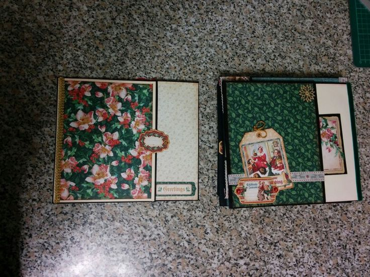 Pages 2 and 3 of my A Christmas Carol mini album using Graphic 45 collection