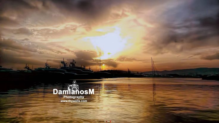 Sunset Flisvos Marina Greece