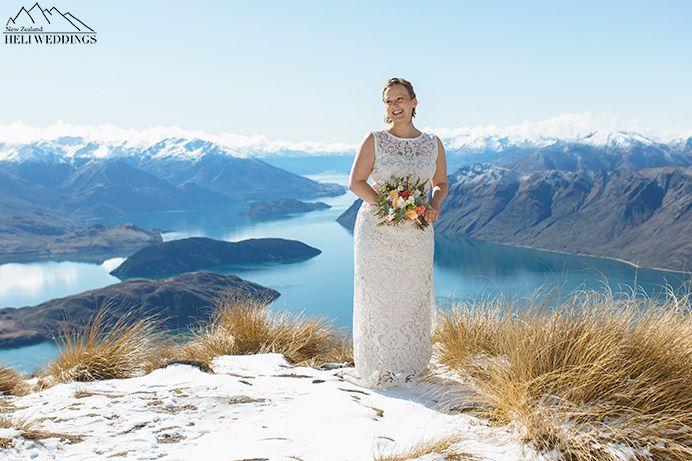 Mountain wedding ceremony, Wanaka Wedding, Snow Wedding
