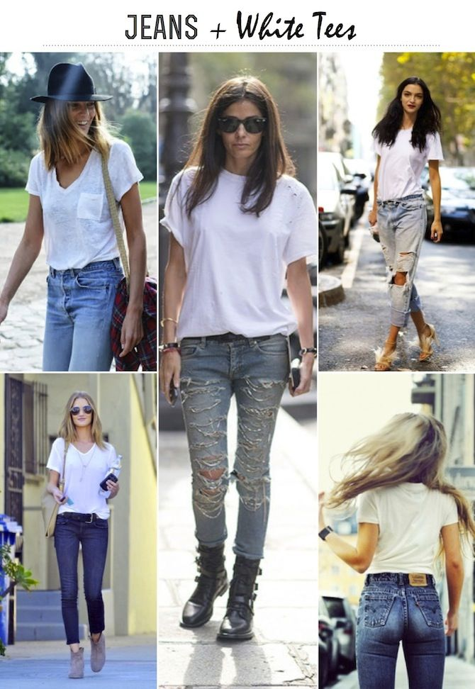 Jeans + White Tees