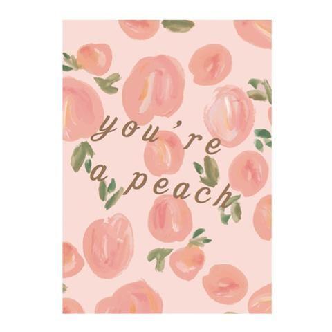Peach greeting card by NUNUCO® #nunucodesign