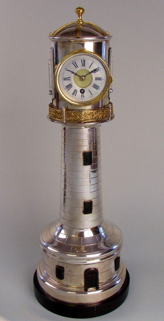 A Lighthouse Clock by Andre Romain Guilmet, c1880 Paris