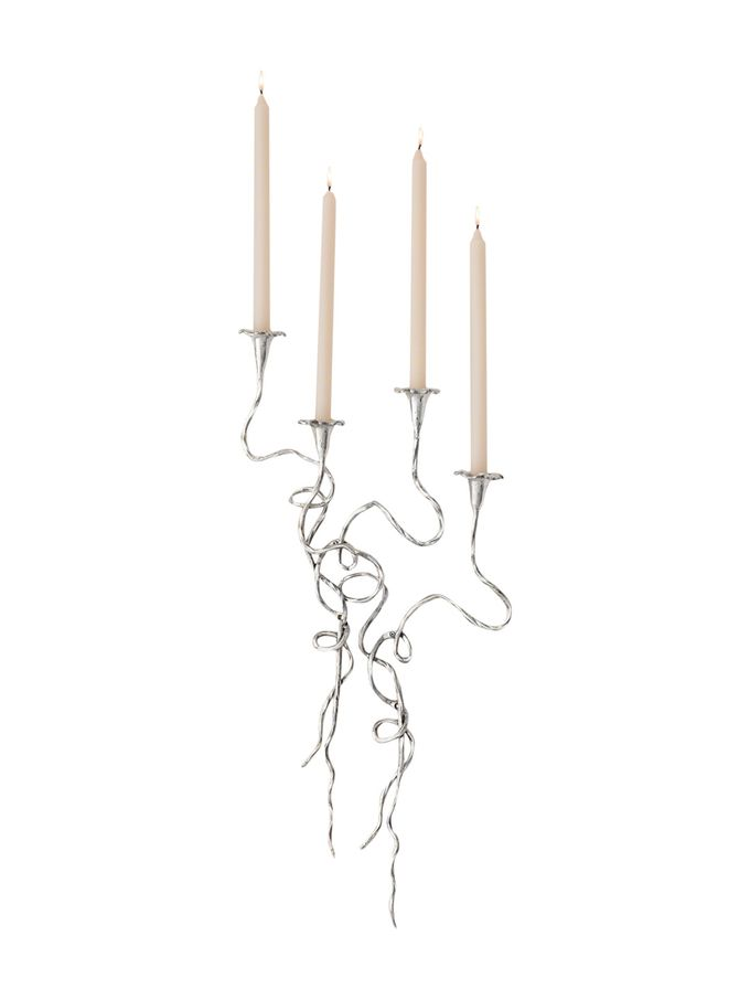 Morning Glory Wall Vines Candleholders (Set of 4) from Home Accents with Flair on Gilt