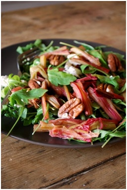 Salade de printemps à la rhubarbe