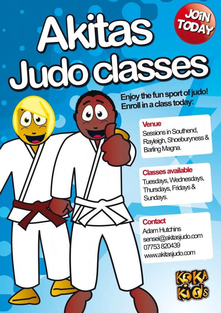 Judo class. We can personalise our judo flyers to fit your Dojo or judo business. www.kokakids.co.uk