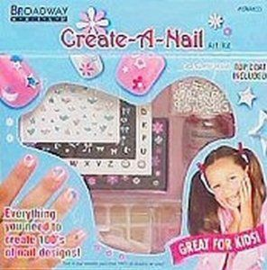 Kiss Broadway Nails Create a Nail Art Kit - 1 Ea by Kiss Broadway Nail Kit. $2.35. Kiss Broadway Nails Create-A-Nail Art Kit. Kit Contains 48 Petite Color Nails  40 Press-On Tabs  5 Nail Art Sheets. Safe on Natural Nails. Glue is not needed. Over 250 stickers.