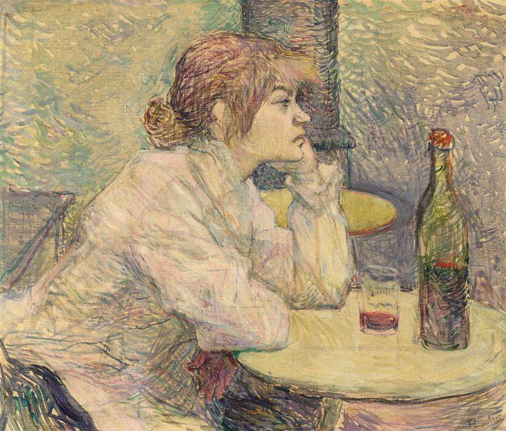 La bevitrice - Suzanne Valadon - Hangover - The Drinker - Toulouse Lautrec