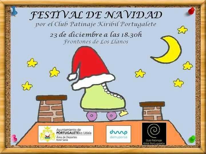 Festival Navidad de Patinaje artístico en Portugalete irristaketa