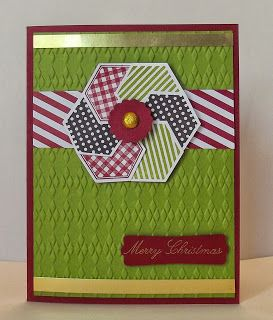 Six Sided Sampler, this card would look nice in red, white and blue.