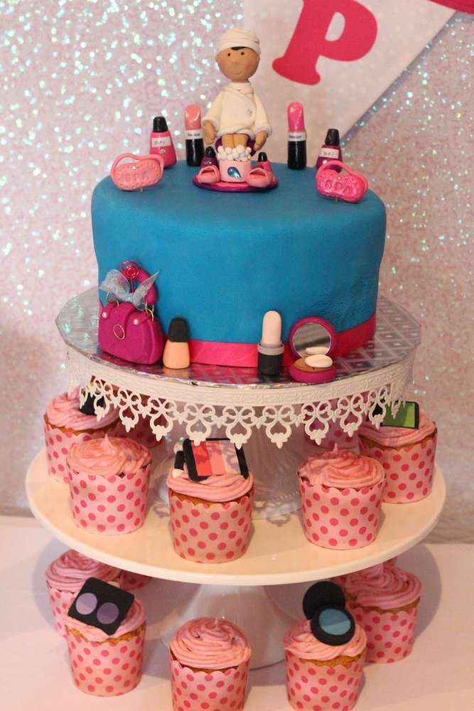 Best Spa Party Ideas Images On Pinterest Birthday Party - Spa birthday party cake