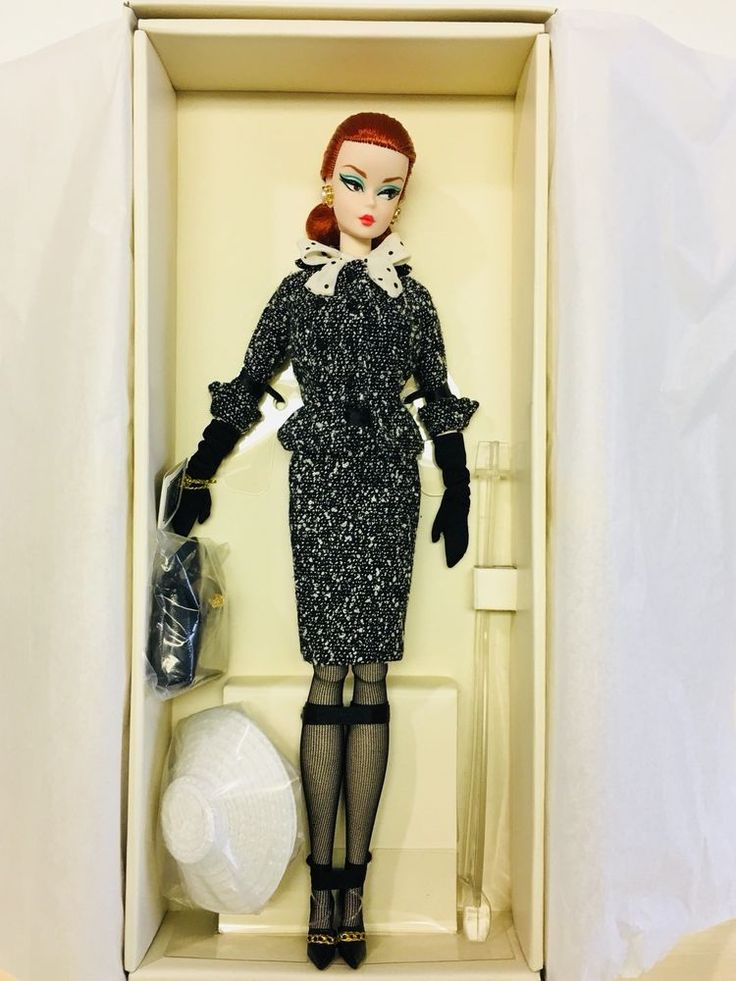 Barbie Black & White Tweed Suit Doll #Mattel #Dolls
