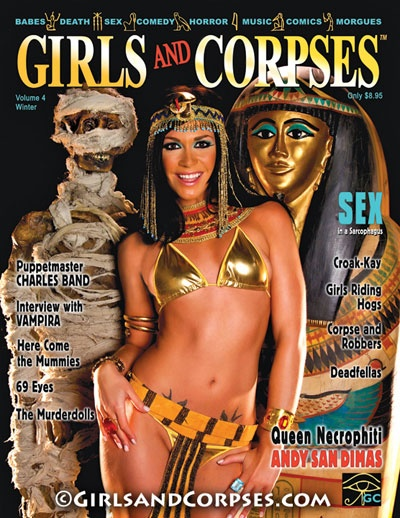 Andy San Dimas on the cover of Girls and Corpses.