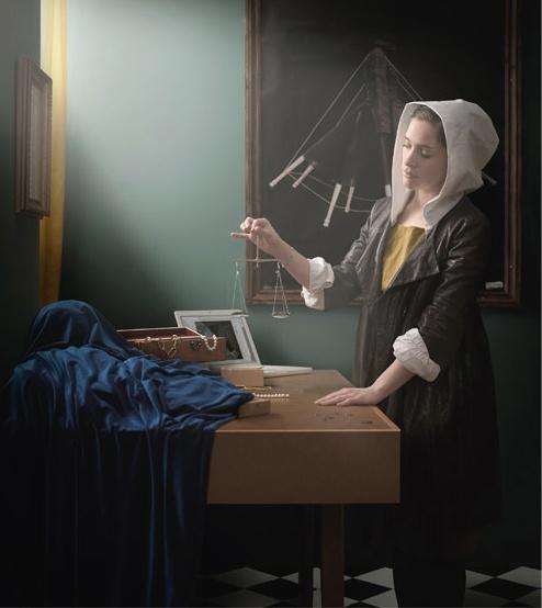 Johannes Vermeer    187 Frau mit Waage  171   um 1664  Woman Holding A Balance    Vermeer Woman Holding A Balance