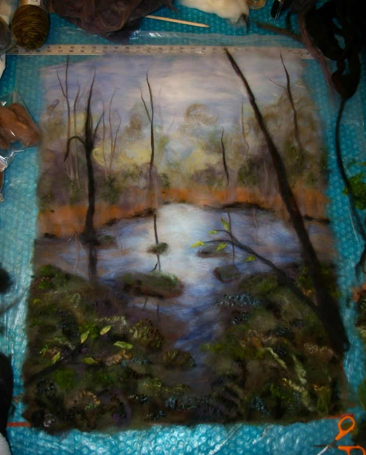 "layout of landscape... Diane Christian blog ""Felt Inspiration."" I am definitely inspired each time I go to her blog."