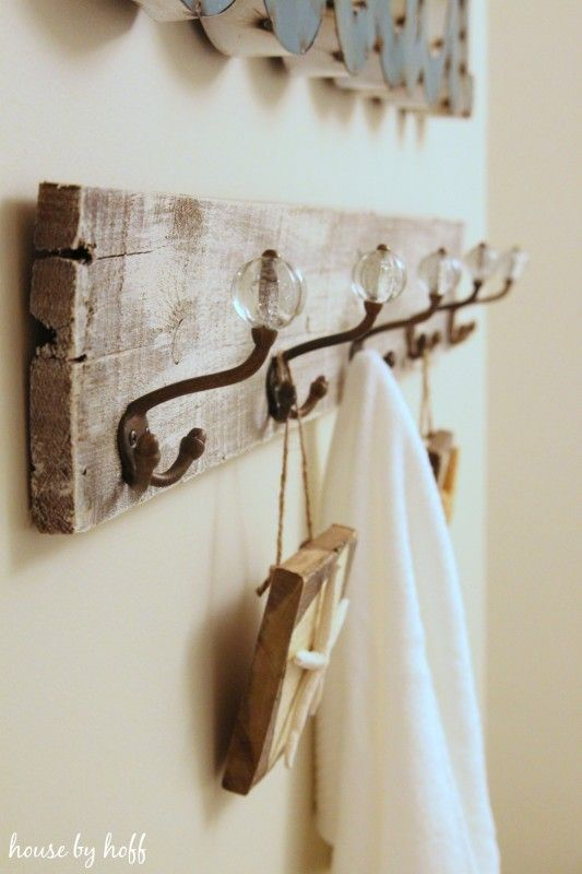 how to make a towel rack from pallet wood - Bathroom Accessories Towel Rail