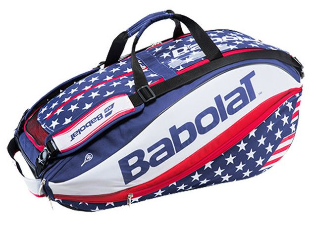 Show your patriotism with Babolat's new Pure Aero Stars & Stripes 12 Pack tennis bag! This bag is everything a tennis player could want or need as they travel to and from the court. The Pure Aero Stars & Stripes 12 pack is efficiently design to accommodate up to 12 uncovered racquets, plus players will enjoy easy-access pockets to store all of your essentials! The Pure Aero Stars & Stripes 12 Pack features two racquet compartments with Isothermal technology that can hold up to 4 racquets…