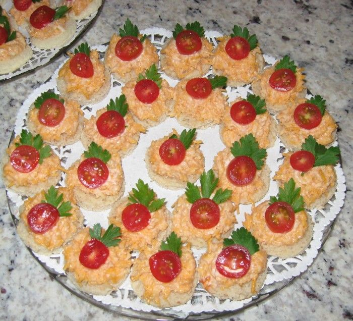Tea Time - Cheddar Cheese and Tomato Tea Sandwiches Catering by Debbi Covington - Beaufort, SC www.cateringbydebbicovington.com 843-525-0350