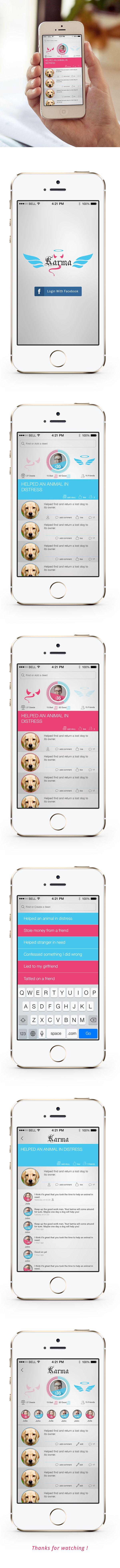 Karma Tracking app on Behance