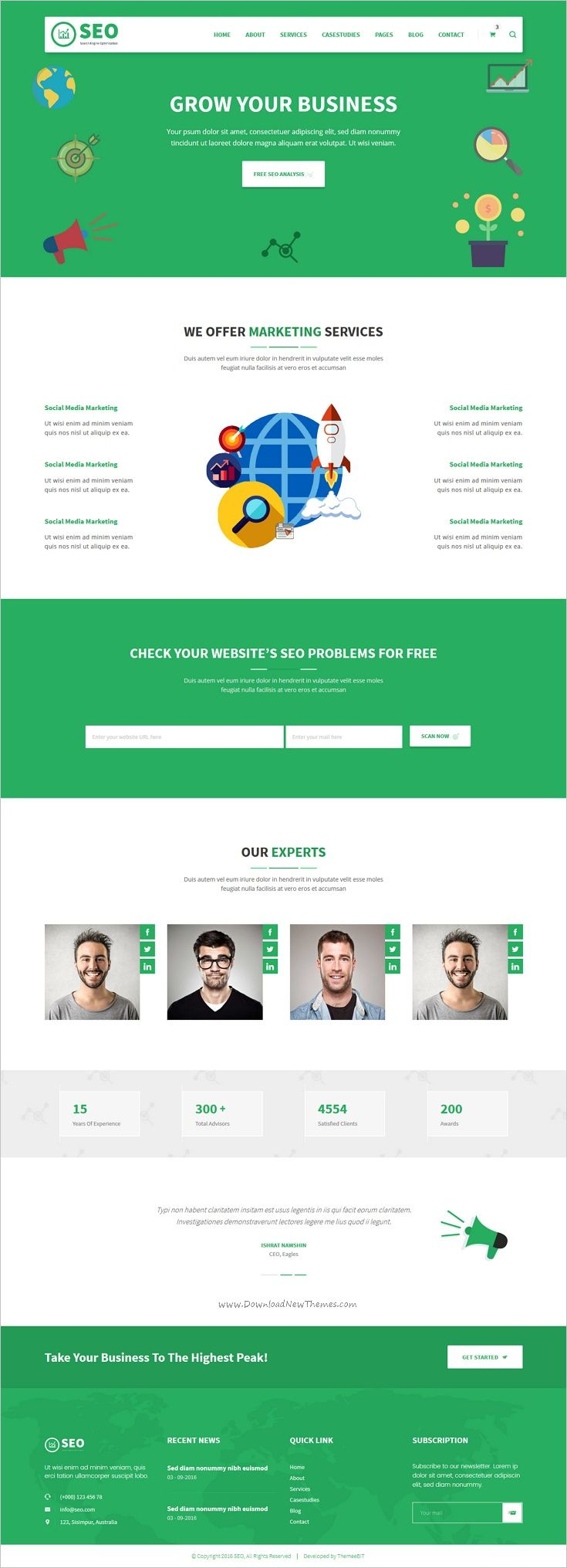 SEO PRO is a minimal 2in1 #Bootstrap HTML template SEO #Ranking and #marketing agencies websites download now➩ https://themeforest.net/item/seo-pro-search-engine-optimization-marketing-html-template/18925621?ref=Datasata