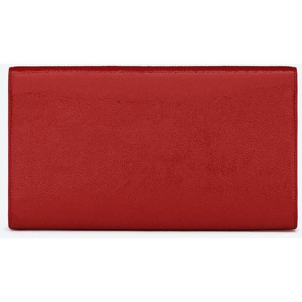 ysl black clutch - Saint Laurent Ysl Logo Clutch In Red Patent Leather (��430 ...