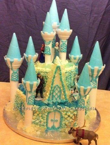 Disney Frozen Birthday Cake | Coolest Disney's Frozen Castle Cake
