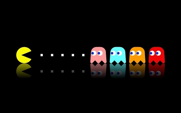 Pac-man dual screen wallpaper
