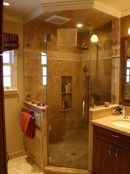 17 best ideas about bathroom shower designs on pinterest master bath shower shower tile - Bathroom remodel corner shower ...