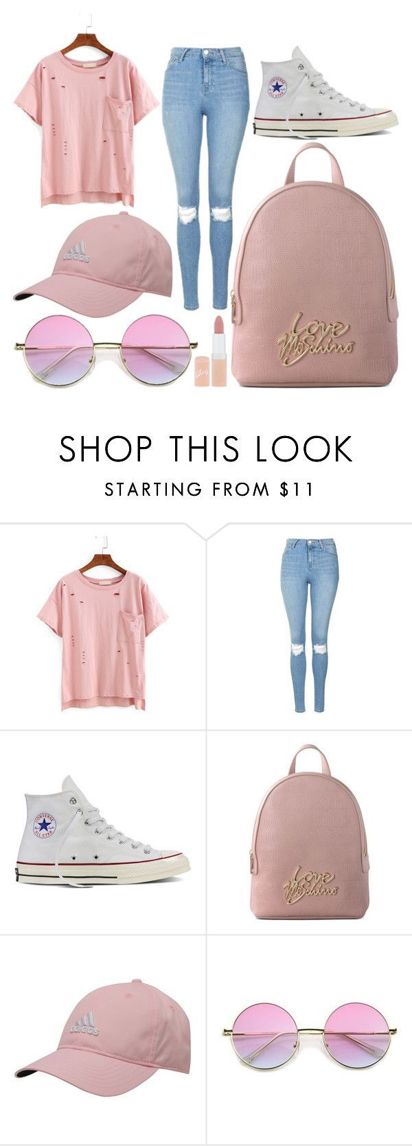 """""""School Day"""" by susanna-trad on Polyvore featuring Topshop, Converse, Love Moschino, adidas and Rimmel"""