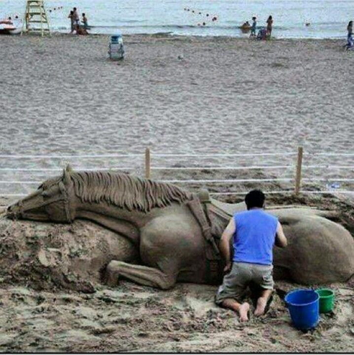 WOW this guy has serious talent. This sculpture reminded me of War Horse... wow this is amazing.
