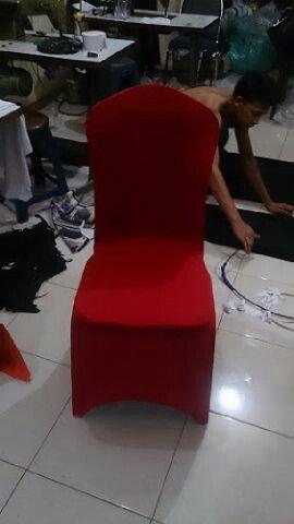 Cover kursi futura ketat jangkung warna M.maroon