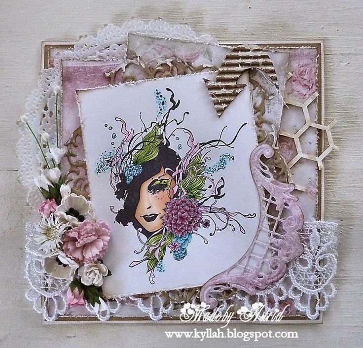 Noor! Design Floral Ladies Clearstempel door Astrid Broer