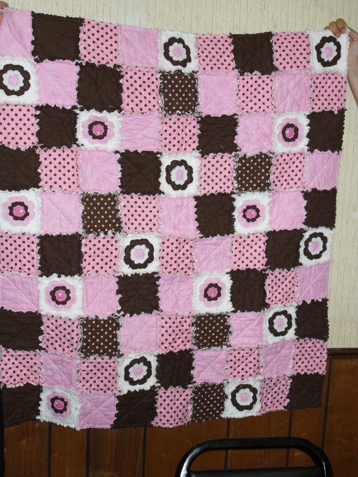 Pink and Brown Rag Quilt for Audi!