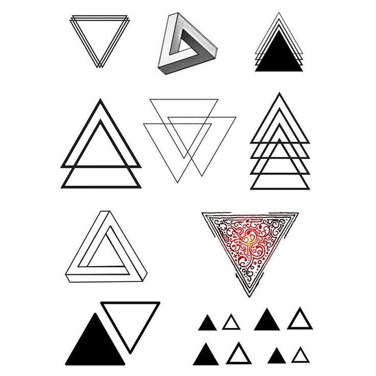 """Résultat de recherche d'images pour """"triangle tattoo signification"""""""