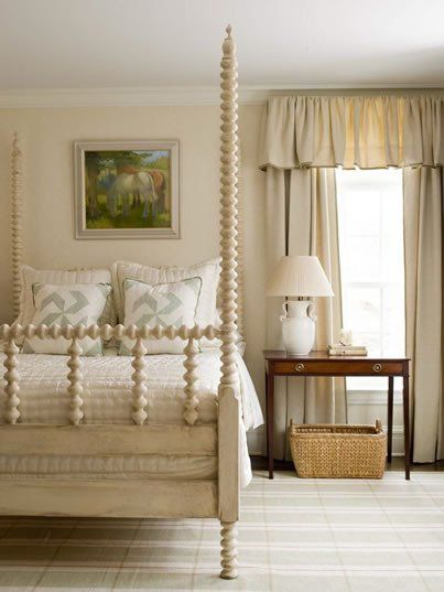 Jenny Lind Style: Adult-Sized Spindle Beds (phoebe howard 4 post version in cream)