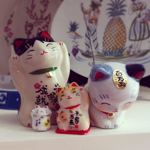 Maneki Neko cats. Love these things! ** Learn more about #cats with Ozzi Cat Magazine >> http://OzziCat.com.au **