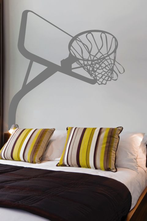 Basketball Hoop Wall Decal by WALLTAT.com