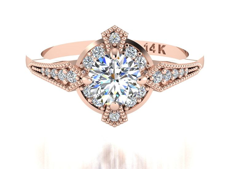 Natural Diamond ring, Antique style inspired ring custom made by Irina by BridalRings on Etsy https://www.etsy.com/listing/508348388/natural-diamond-ring-antique-style