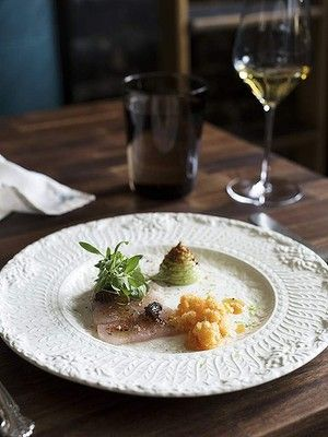 As featured in Good Food's 'Best eats in Los Angeles' gallery: Australian chef Curtis Stone's highly acclaimed Maude restaurant, located in Beverley Hills. Photography by Peter Tarasiuk.