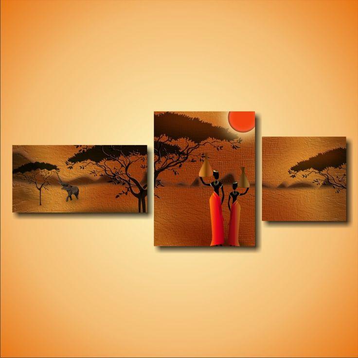 """Модульная картина """"Две африканские девушки"""" (цена, характеристика)"""