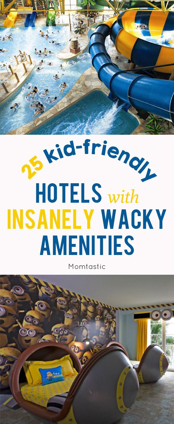 25 Kid Friendly Hotels with Insanely Wacky Amenities - Our yearly summer trip always involves the kids. While we definitely look for a destination where we can sneak away as adults and have a good time, the reality is that if the kids aren't having a good time, no one is having a good time. Lucky for us, there are plenty of kid friendly hotels that have upped their game in the gimmicks department.
