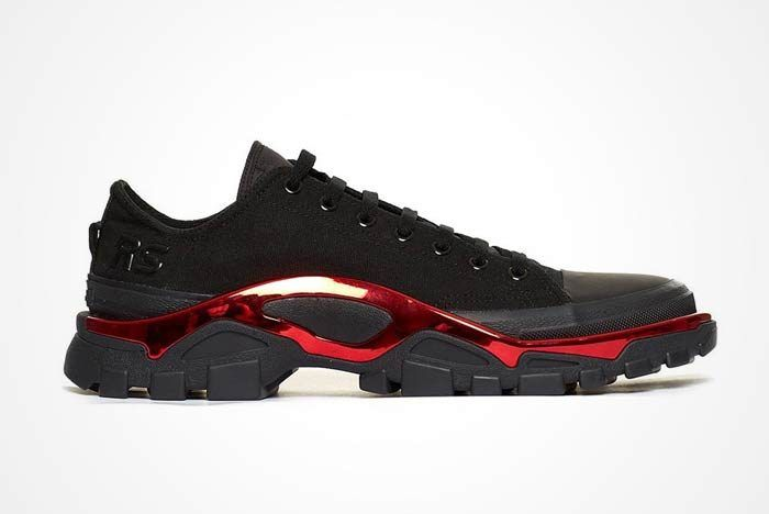 750139b693a2 Raf Simons x adidas New Runner  Black Red
