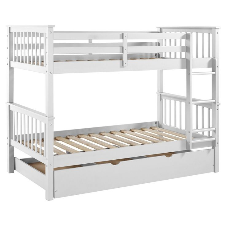 Solid Wood Bunk Bed with Trundle Bed - Saracina Home : Target
