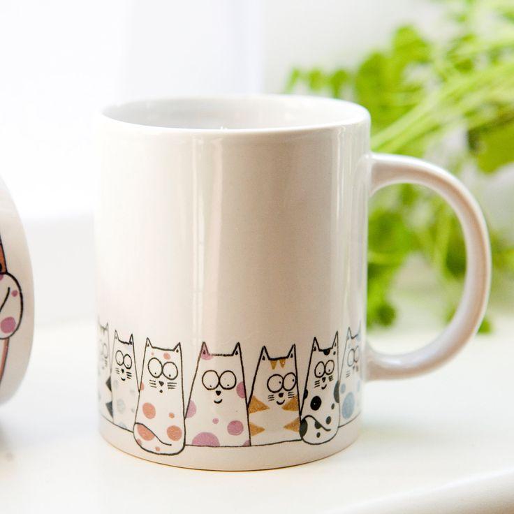 Cat mug - Cuppa Cats coffee mug, tea mug. £8.50, via Etsy.