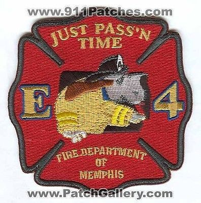 Memphis Fire Department Engine 4 MFD Company Station Rescue Patch Tennessee TN