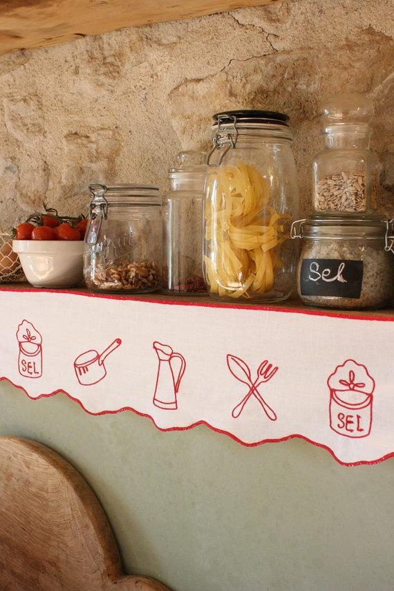 French Vintage Kitchen Design Shelf Edging or by Chezpetitpica, €25.00